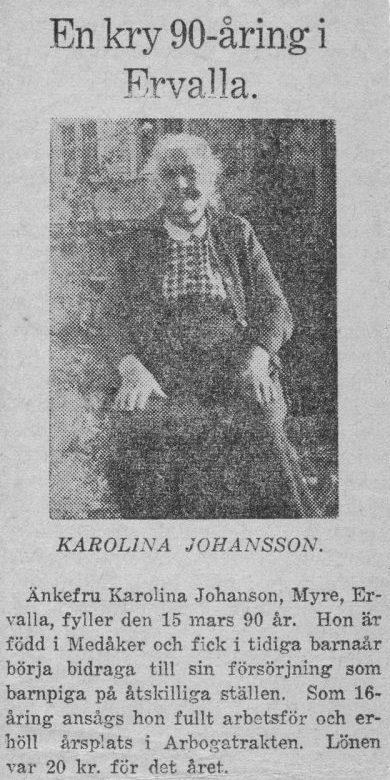 Mormors mor, Karolina