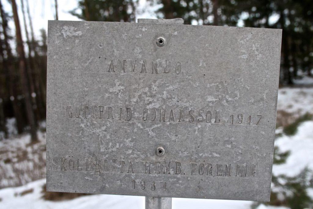 Anvanbo skylt