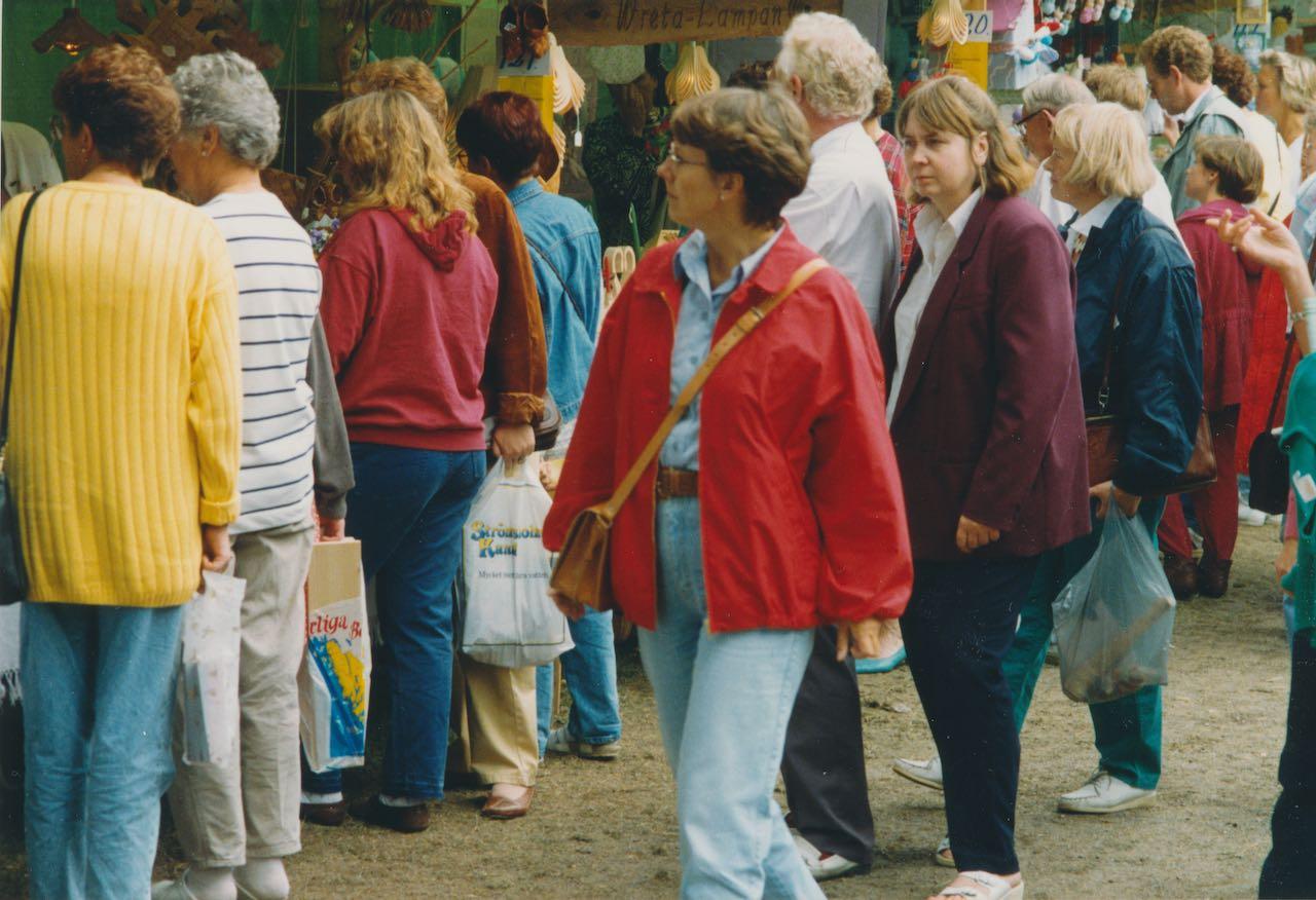 Hantverksmarknad i Hjo 1992